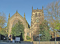 Saint Werburgh's Church  in Derby UK